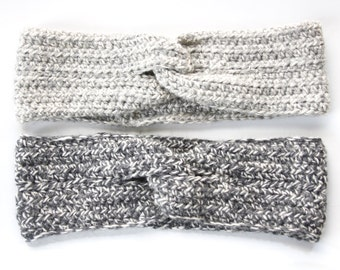 Crochet Headband. Turban Headband. Wool Headwrap. Hair Accessories. Earwarmer. Crochet Turban Headband. Gift for Her. Knotted Headband