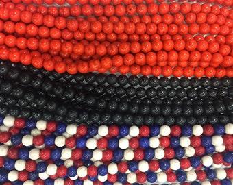 10mm howlite round beads