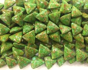 20mm triangle, mosaic composite howlite beads, 20beads