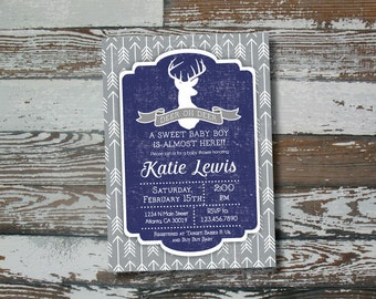 Deer Oh Deer Baby Shower Invitation - Printable
