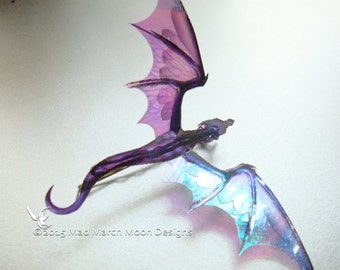 Dragon Hair Pin, Various Colours, iridescent shimmering, handmade hair accessory single hair grip