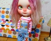 B1503D Overall and pink t-shirt for Neo Blythe.