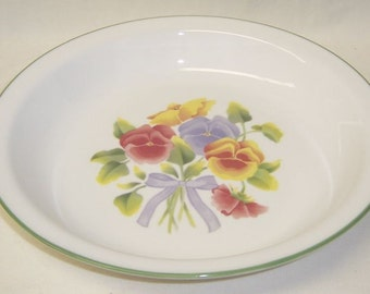 Corning Corelle SUMMER BLUSH PANSY 10 Inch Pie Plate or Pie Baker