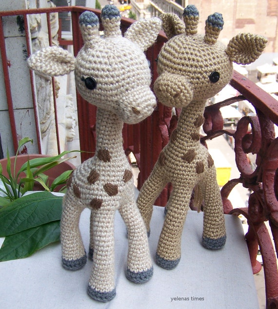 Amigurumi Hello Kitty Collection 1 : Crochet Pattern Baby Giraffe-Small Toy Crochet Pattern-Toy ...