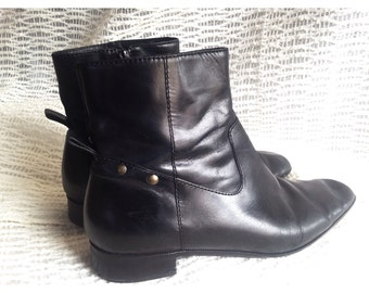80s Does 60s Studded Mod Ankle Boot