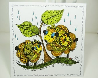 Tangle Cards, Zentangled Inspired Cards, Pen and ink Cards, Hand Drawn Art Cards. Greeting Cards