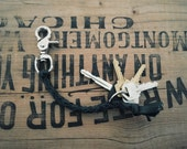 Men's braided key fob