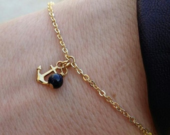 Tiny Anchor bracelet - 18k gold filled