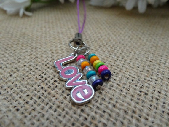 charm cell phone lanyard