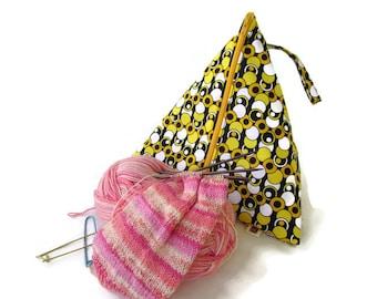 Triangle Bag Craft bag Knitting Bag Large Triangle Bag