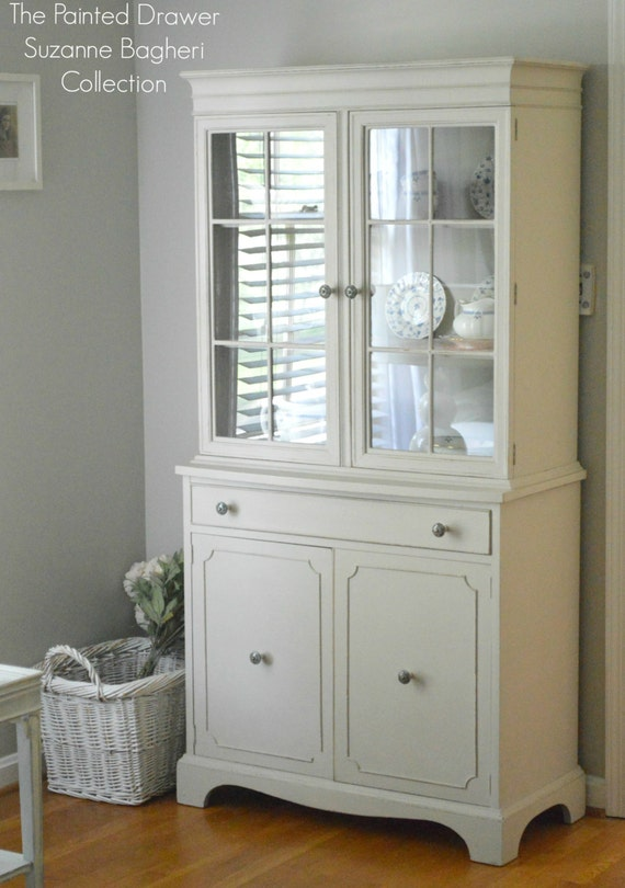 The Greige and Persimmon Farmhouse Cabinet