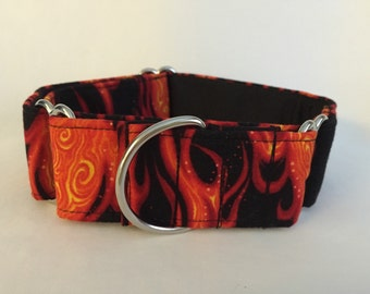 "1.5"" Flames Martingale Collar"