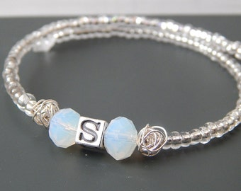 Personalized Bangle Bracelet, Initial Bracelet, Monogram Bangle, Sterling Silver Bangle, Bridesmaids Bracelet, Gift Ideas,