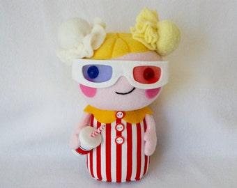 Plush 3D movie popcorn doll
