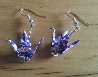 Origami Crane Earings