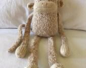 READY TO SHIP! Handmade Knit Lanky Monkey