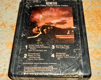"Genesis, 8 Track Tape, ""And Then There Were Three"",  8 Track Tape Cartridge, Stereo Tape Cartridge, 8 Track, Eight Track"