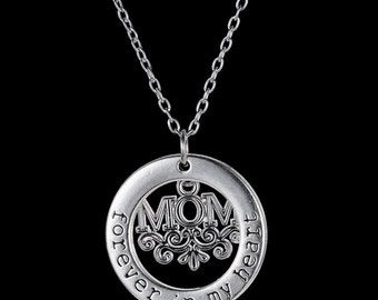 Forever in my heart MOM necklace Grandma necklace