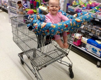 Trolley Cover//Shopping Trolley Cover//Shopping Cart Cover//SUPER PADDED//Clothing Protector//You Pick The Fabric