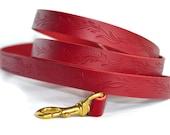 Elegant Vines Leather Dog Leash