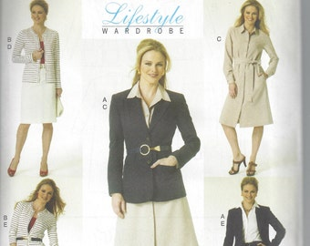 Butterick B5760 - UNCUT and OOP - Lifestyle Wardrobe Collection - Misses' Jacket, Cardigan, Dress & Pants Sewing Pattern - Sizes 8-14