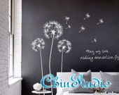 Dandelion Blowing in the wind-Dandelions Walll Decal Wall sticker Nursery Decal Murals