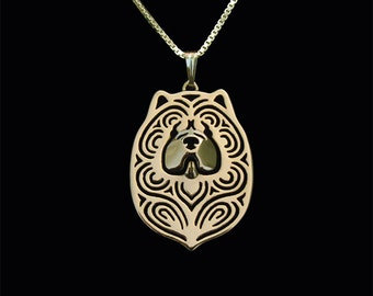 Chow Chow - Gold pendant and necklace