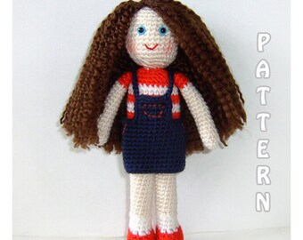 PDF - Deniz The Girl Doll Amigurumi Pattern