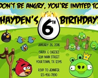 Angry Birds 5x7 Digital Invitation