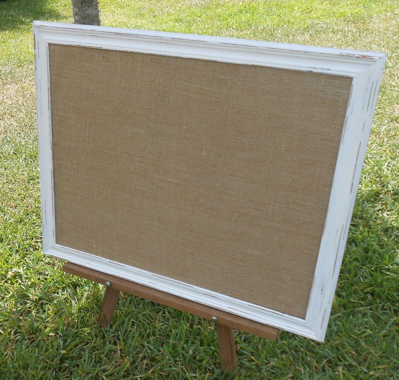 Burlap Framed Bulletin Board White 31 X 25 Bulletin Board