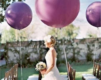 "36"" Lavender Balloons, Lavender Purple HUGE Round Latex Balloons, Qualatex Lavender Big Balloon or Purple Balloon"