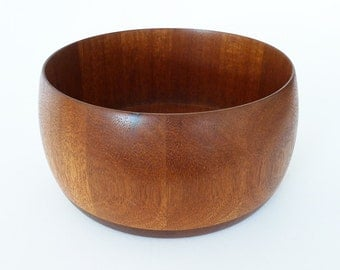 Wood Fruit Bowl / Mid Century Modern Bowl
