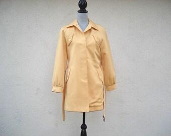 Ladies Trench Coat, Yellow Mod Style Jacket London Fog Jacket Mustard Yellow Coat, Vintage Trench Coat, Mustard Yellow,Coat, Ladies Coat