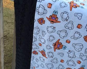 Big Hero 6 minky toddler blanket