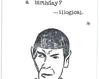 Spock Star Trek Birthday Card