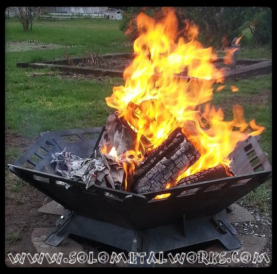 36 hexagon 25 steel plate modular fire pit kit by for Prefabricated fire pits