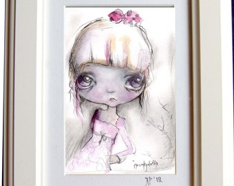 Art print girl.. Framed
