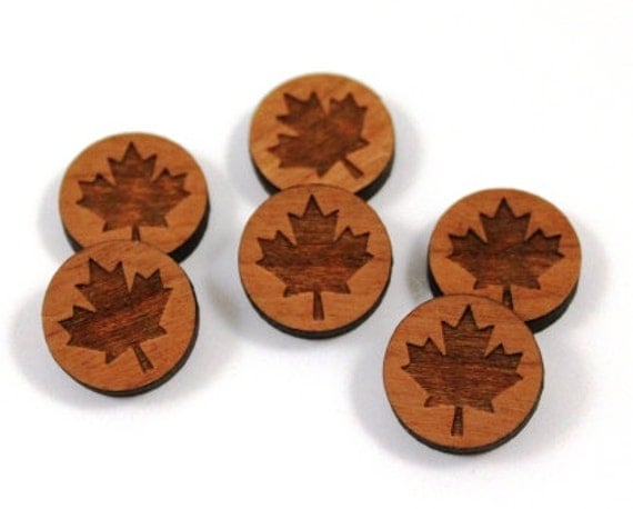 Laser Cut Supplies- 8 Pieces.Maple Leaf Charms - Laser Cut Wood Maple -Earring Supplies- Little Laser Lab Sustainable Wood Products
