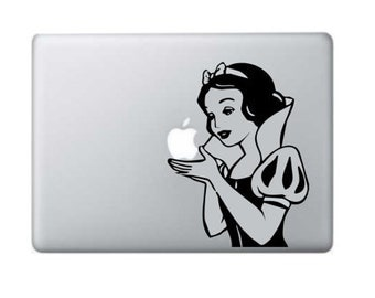"Macbook Decal Snow White Macbook Sticker 11"" 13"" 15"" 17"" Laptop Decal Laptop Stickers Stickers Macbook"