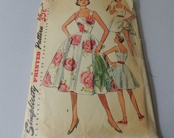 1950s Sundress, Tennis Dress and Panties size 16. bust 34