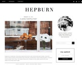 "Wordpress Theme Premade Blog Template Design - ""Hepburn"" Instant Digital Download"