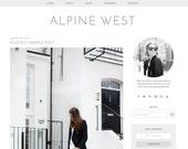 "Wordpress Theme Premade Blog Template Design - ""Alpine"" Instant Digital Download"