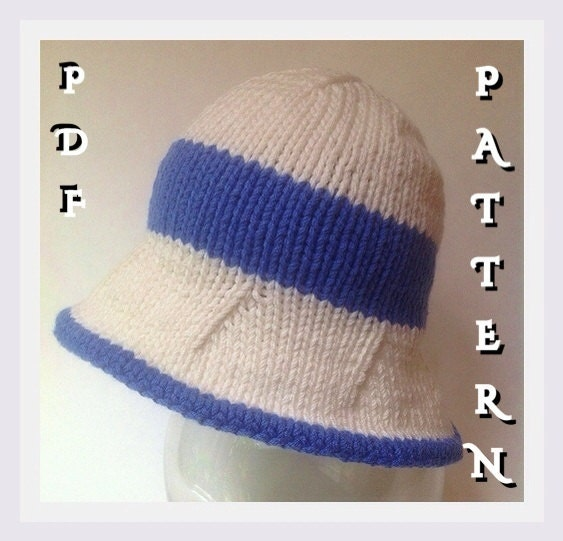 Knitting Pattern For Baby Sun Hat : Knitting Pattern for Baby Sun Hat by SilvermoonKnits on Etsy