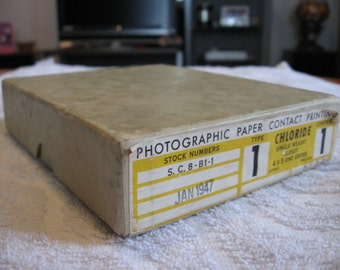 SALE 1947 Box of ANSCO Photographic Paper for Contact Printing