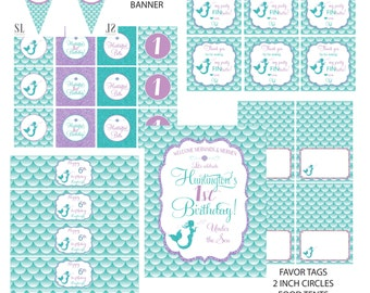 MERMAID PARTY printable party package