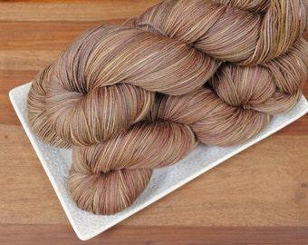 Pipe-weed on Maple, Merino/Nylon Fingering Weight Hand-dyed Yarn