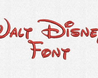 Walt Disney Embroidery Font