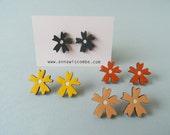 Wooden Flower Earrings - Daisy Large