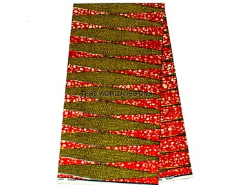 Authentic Vlisco Holland wax/  Real wax/, not imitation/ African print/ African accessories/ Tissus Africains Wax/ 6 yards  HW26