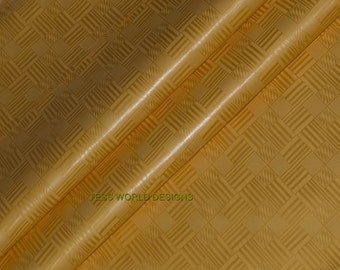 Best quality African Brocade fabric by the yard/ Gold Guinea Brocade/ Bazin fabric/ Quality pure cotton Damask Fabric B67